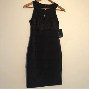 NWT En Focus Black Mini Dress